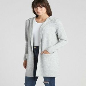 Gap Tall M Pockets Open-Front Hooded Cardigan New